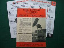 International/Drott-International Crawler/trattori/lato ribaltamento dei secchi.