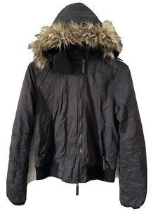 Superdry Windbomber Black Jacket Fleece Lined