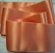 """2"""" WIDE SWISS DOUBLE FACE SATIN RIBBON-  PEACH -   BTY"""