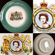 "Superb Quality Queen Elizabeth II Silver Jubilee 9""/22cm Ironstone Plate"