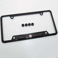 For Jaguar Brand New License Frame Plate Cover Stainless Steel Black