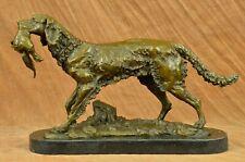 Golden Retriever Bird Bronze Statue Show Hunting Sporting Dog Duck Sculptur DEAL