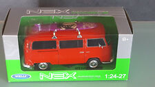 Welly 1 24 Bus  VW Type 2 mit Surfbrett rot  1:24