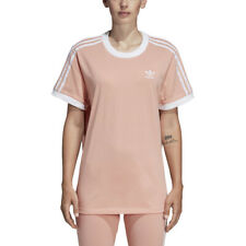 Adidas Originals Women's 3-Stripe Tee Dust Pink Shirt DV2583 NEW