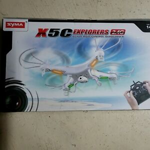 SYMA X5C-1 Explorer 2.4G, Drone with Camera plus 6 batteries and extra blades