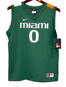 NWT Nike Vintage University Of Miami Hurricanes Jersey, Large (16-18)