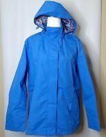 NWT Women's IZOD PerformX Blue Windbreaker Size XL Zip Front Hooded Pockets