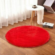 Bathroom Non Slip Plush Carpet Toilet Foot Pad Eco Friendly Home Solid Round Rug