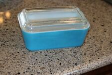 Vintage Pyrex 0502 Refrigerator Dish With  Lid #502-C Aqua/Blue