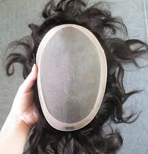 Fine Mono Hairpiece Hair Replacement System Monofilament Toupee Indian Remy Hair