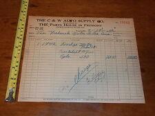 C & W AUTO SUPPLY AUTOMOTIVE MACHINE SHOP FREMONT OHIO 1950 DODGE CRANKSHAFT