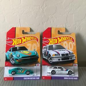 Hot Wheels Lot 2X 70s Custom Datsun 240Z #3/8 / 90s BMW E36 M3 Race #6/8 L25
