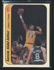 1986-87 Fleer Stickers KAREEM ABDUL-JABBAR Card #1 Los Angeles Lakers