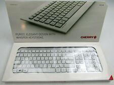 NEW Cherry Strait 3.0 Corded Keyboard Silver White JK-0351EU