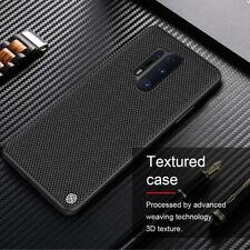 Nillkin For OnePlus 8 7T Pro Slim Nylon Fiber Texture TPU Matte Black Case Cover
