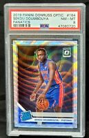 2019 Optic FANATICS Wave REFRACTOR Pistons SEKOU DOUMBOUYA Rookie Card PSA 8