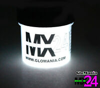 White MX24 Extreme Glow in the Dark Paint Strontium Aluminate from GloMania