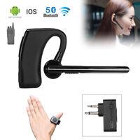 Wireless Bluetooth Headset V5.0 M Plug PTT Remote For Motorola HYT Walkie Talkie