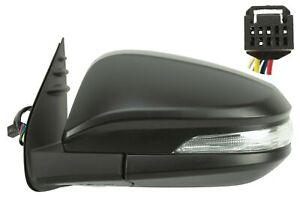 Rétroviseur Électrique Avec Clignotant Noir Pour Toyota Hilux 2015- Gauche