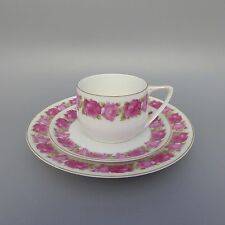 Rosenthal Donatello Rote Rose Jugendstil um 1920 Teegedeck 3tlg Teetasse Teller