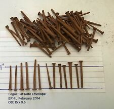 """150 Vintage Antique New Old Stock Steel Square Cut Finish Nails 3//4/"""""""