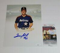 Terry Puhl Signed 8x10 Photo Houston Astros JSA COA Authentic Auto 26367