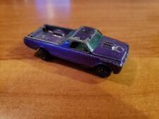 Old Vtg 1967 HOTWHEELS Redline Purple Custom Fleetside Toy Car Mattel