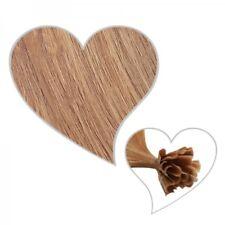 25 mèches brun clair #10, 60 cm,1 gramme,Indien Cheveux véritables,
