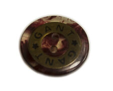 Original GANT Logo plastic Main Front sleeve or Pocket Replacement button .80""
