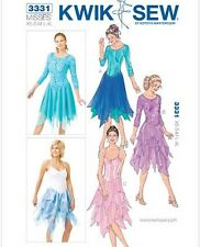 Kwik Sew 3331 Ballet Leotard Dance Costume Hankerchief Hem Skirt Pattern XS-XL