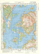 Russian Soviet Military Topographic Maps - LEIRVIK (Norway) 1:100 000, ed.1977