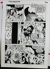 JACK KIRBY'S TEENAGENTS #4 PAGE 13 1993 ORIGINAL ART-NEIL VOKES & JOHN BEATTY Comic Art