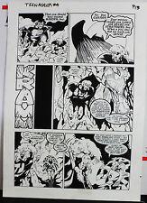 JACK KIRBY'S TEENAGENTS #4 PAGE 13 1993 ORIGINAL ART-NEIL VOKES & JOHN BEATTY