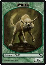 10 Token Cards - WOLF - Shadowmoor - SAME ART - NM/SP - Magic MTG FTG