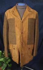Vintage Brown Suede & Wool Tweed CALIFORNIAN California Sportswear Jacket Sz 42