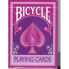 BICYCLE MAGENTA PURPLE REVERSE COLOUR deck of Playing cards violet Magic Trick