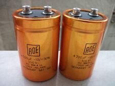 8pcs ROE GOLD EYP/A 4700uf 100V AUDIO GRADE LOW ESR HI-END CAPS !EXCELLENT!