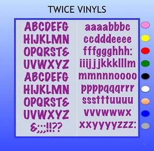 SELF ADHESIVE LETTERS stickers  MARKER FELTPEN 20mm OR 25mm high vinyl alphabet