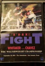 The Fight Magazine 1993 signed by Don King and others Whitaker vs  Chavez