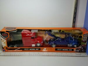 1/43 NEW RAY PETERBILT TOW TRUCK MODEL 335 with PETERBILET TRUCK CAB MODEL 387