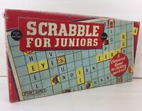 Vintage Spears SCRABBLE FOR JUNIORS Board Game By Spear's Games for Kids 1959