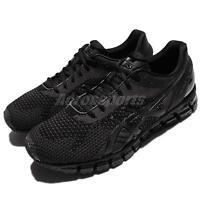 Asics Gel-Quantum 360 Knit Black Grey Men Running Shoes Sneakers T728N-9099