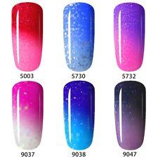 UV LED Thermal Nagellack Nail Gel Polish Gellack Soak Off 6x Colour Changing Set