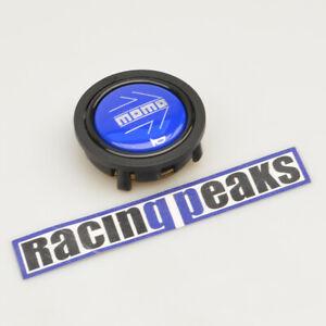 MOMO glossy blue chromed logo steering wheel horn button racing tuning 55mm