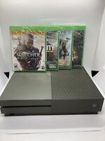 Microsoft Xbox One S: Special Army Green Battlefield Edition Console + Games