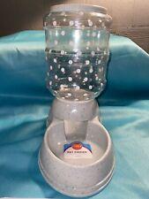 Automatic Gravity Pet Dog Cat Food Feeder Bowl Auto Dispenser~Gray/Polka Dots~p2