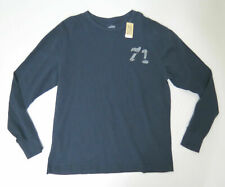 Cotton Shirt 71 Large Cremieux Mens Navy Crewneck Long Sleeve