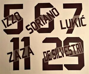 KIT NOME+NUMERO UFFICIALE TORINO FC AWAY 2017-2019 OFFICIAL NAMESETS