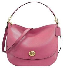 Coach 24771 Pebbled Leather Turnlock Hobo Crossbody Shoulder Bag Rouge