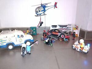 Lot Playmobil Police / Repère Des Bandits